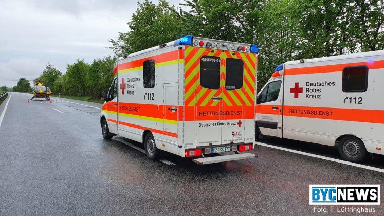 Unfall auf der A63 bei Saulheim