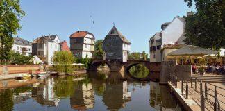 Bad Kreuznach die alte Nahebrücke