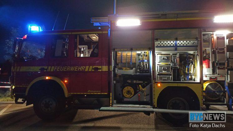 Großeinsatz der Feuerwehr Ingelheim am Freibad - Foto: Katja Dachs